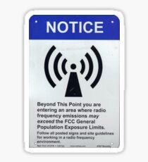 Radio/Cell Tower Notice Sign Sticker