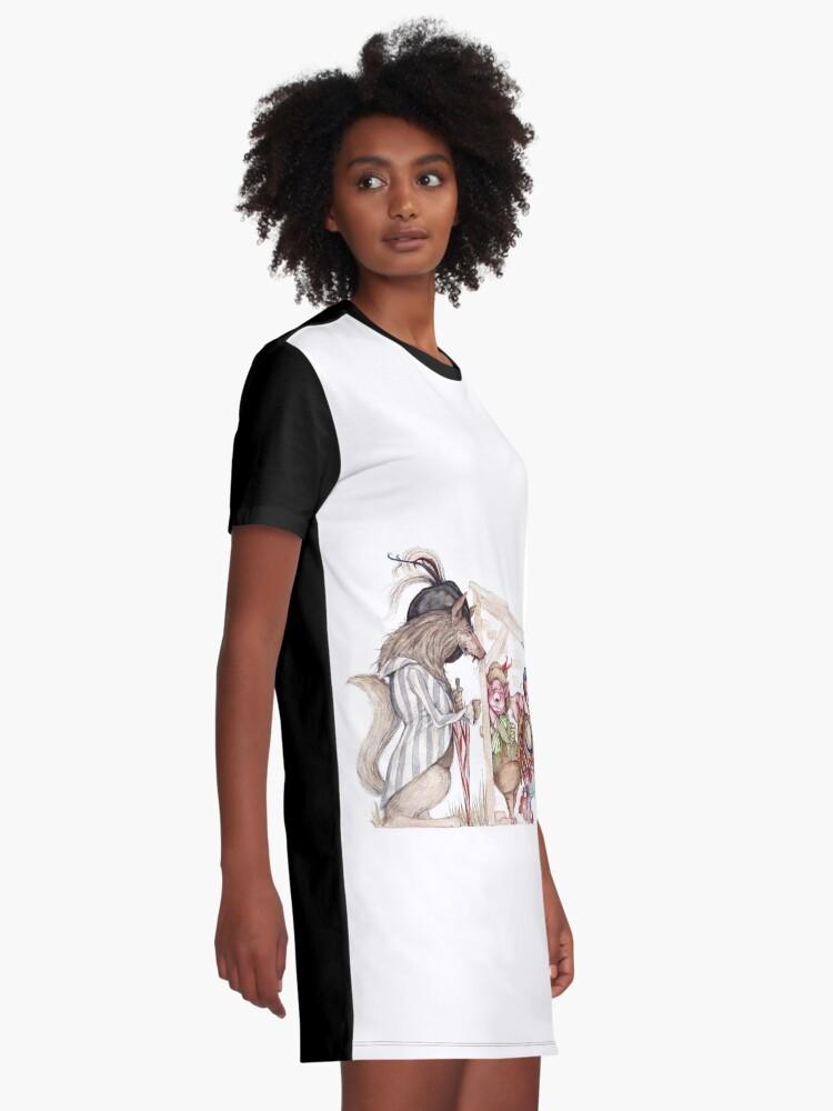 Alternate view of Three little pigs Graphic T-Shirt Dress