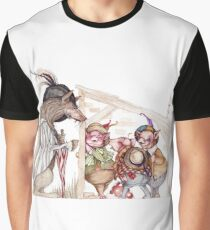 Three little pigs Graphic T-Shirt