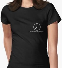 G Dragon Peace Minus One Logo Pocket Women's Fitted T-Shirt