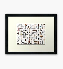 Tools and Utensils. Good Old Days. Framed Print