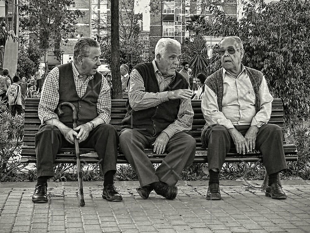 Three Old Friends by Maria  Gonzalez