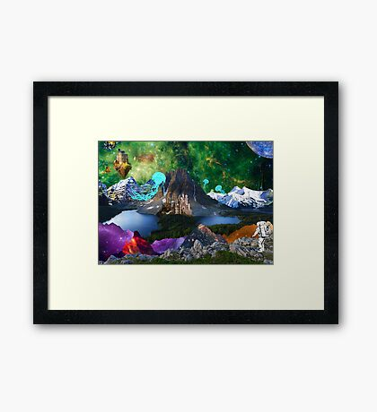 World Explorer 5 Framed Print