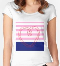 Ahoy me hearty! (dipped) Women's Fitted Scoop T-Shirt