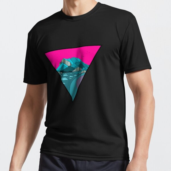 Beautiful scenery with unusual colors in a triangle Active T-Shirt