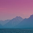 Hazy Mountains and Lake McDonald by Jeff Goulden