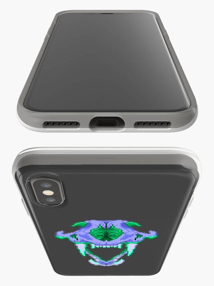 Alternate view of Pixel Lion Skull iPhone Case & Cover
