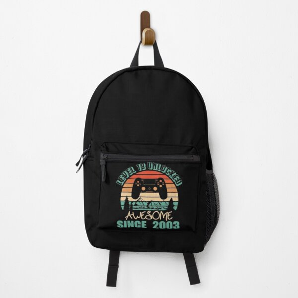 Level 18 Unlocked Awesome Since 2003  Birthday  Gift for Gamers Backpack
