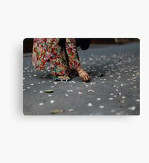 flower collector  Canvas Print