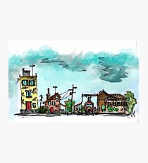 Urban Sketching Doodle 01 Photographic Print