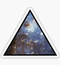 Blue Galaxy Triangle Sticker
