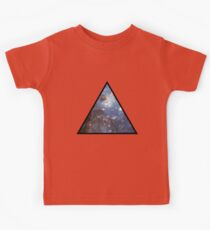 Blue Galaxy Triangle Kids Tee