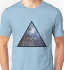 Blue Galaxy Triangle Unisex T-Shirt