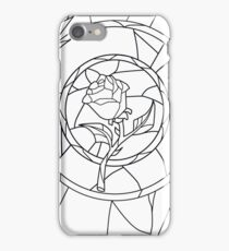 Stained Glass Rose White iPhone Case/Skin