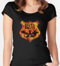 Davy's Angels Badge Women's Fitted Scoop T-Shirt