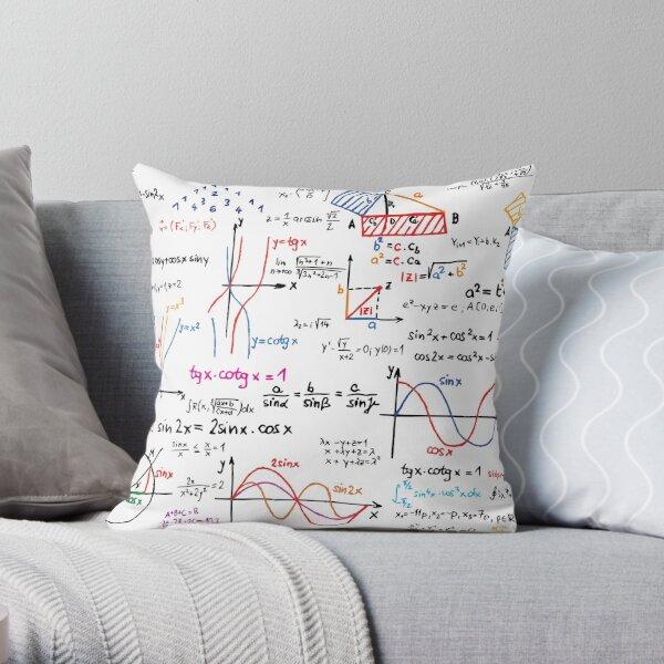 Mathematics Formulas Numbers  Throw Pillow