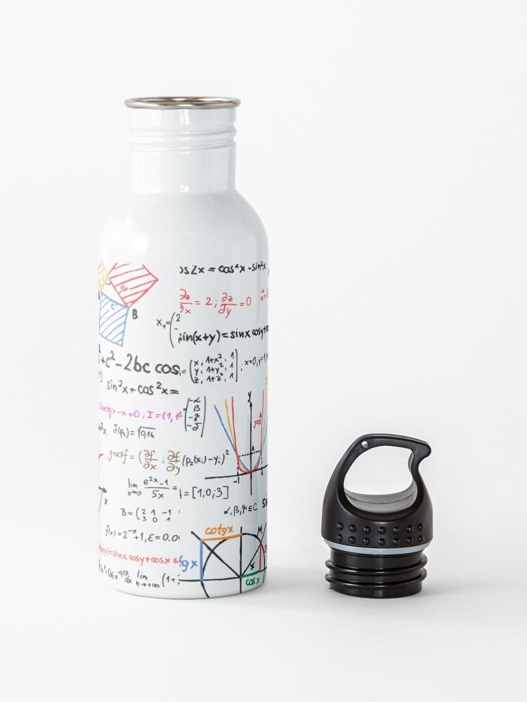 Alternate view of Mathematics Formulas Numbers  Water Bottle