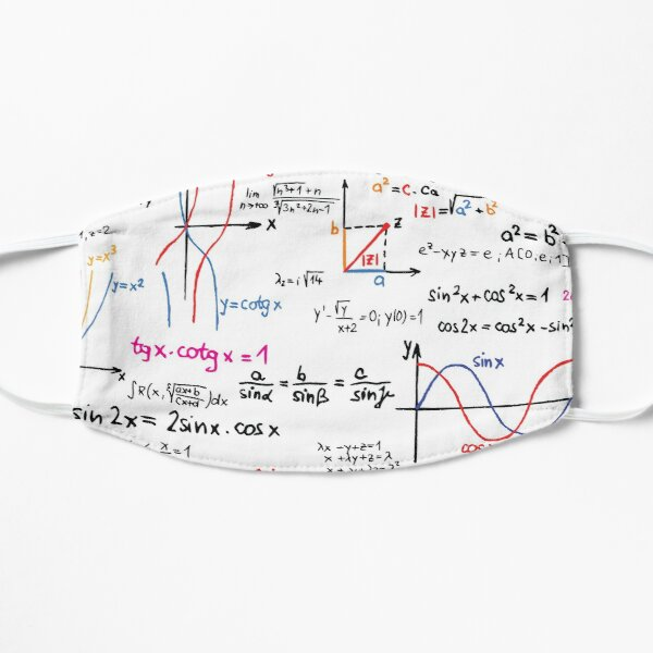 Mathematics Formulas Numbers  Flat Mask