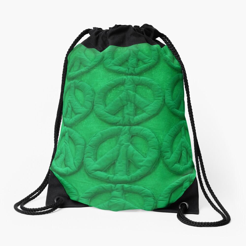 Green peace Drawstring Bag