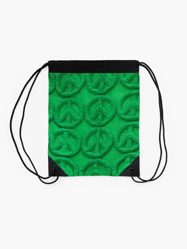 Alternate view of Green peace Drawstring Bag