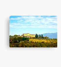 Tuscany hill Canvas Print