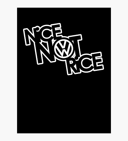 Nice Not Rice - VW Photographic Print