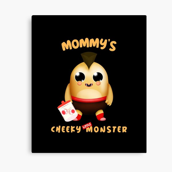 Mommy's Cheeky Little Monster - Turek Canvas Print