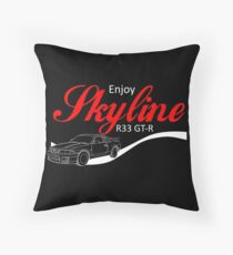 Enjoy Skyline R33 GT-R Throw Pillow