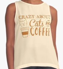 Crazy about CATS (and coffee) Contrast Tank