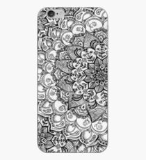 Shades of Grey - mono floral doodle iPhone Case