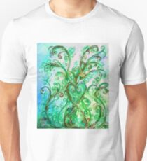 GREEN HEART WITH  WHIMSICAL FLOURISHES Unisex T-Shirt