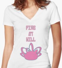 Fire at will Women's Fitted V-Neck T-Shirt