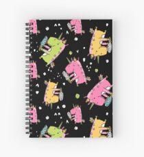 Unicorn and ice cream Spiral Notebook