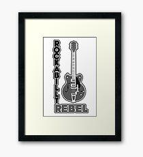 Rockabilly Rebel - monotone Framed Print