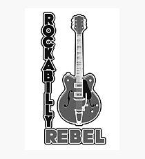 Rockabilly Rebel - monotone Photographic Print
