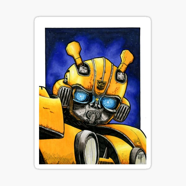 Bumblebee by Brent Florica Sticker