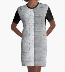 Silver brick wall Graphic T-Shirt Dress