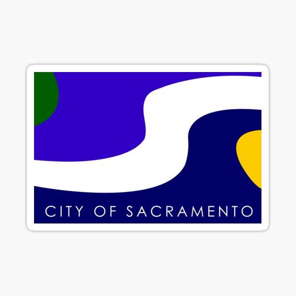SACRAMENTO City Flag Sticker