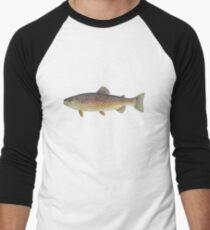 Brown Trout (Salmo trutta) Baseball ¾ Sleeve T-Shirt