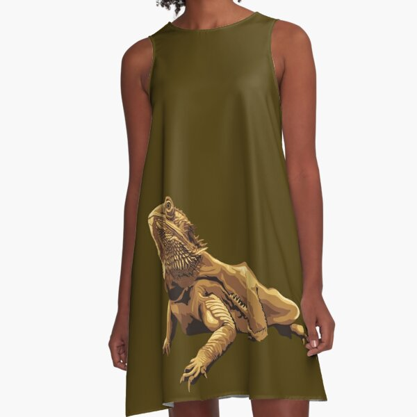 Bearded dragon illustration A-Line Dress