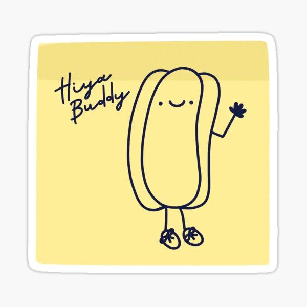 The Office Hiya Buddy Hotdog Sticker