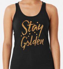 Bleiben Sie GOLDEN in Goldfolie (Bild) Tanktop für Frauen