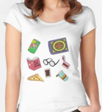 Daria Pattern Women's Fitted Scoop T-Shirt