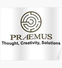 Praemus Logo and Slogan Poster