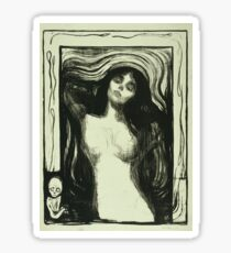 Edvard Munch - Madonna 2. Munch - woman portrait. Sticker