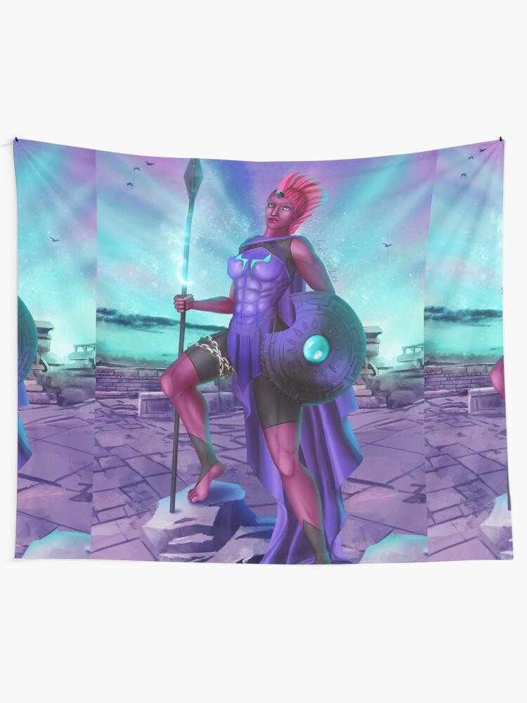 Alternate view of Goddess War Tapestry