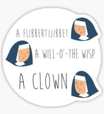 Sound of music nuns Sticker