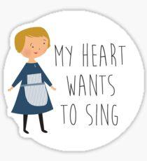 Sound of music maria Sticker
