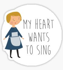 Sound of music maria Sticker