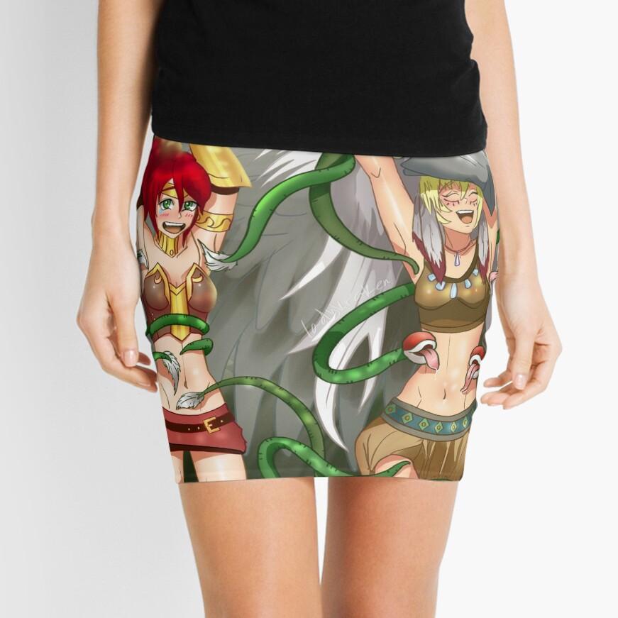 Warrior Angel Tickling Mini Skirt